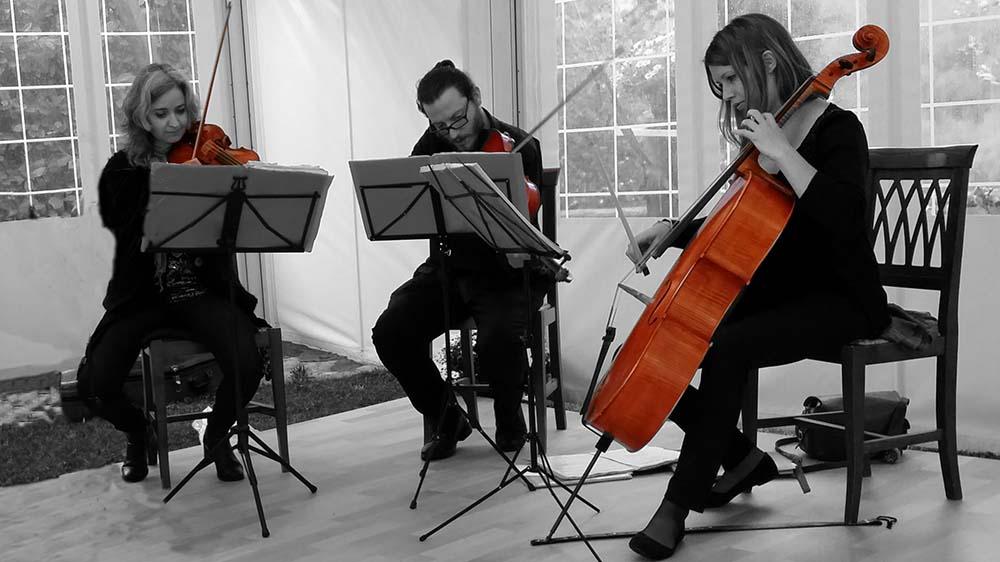 Italian wedding string quartet Tuscany Umbria