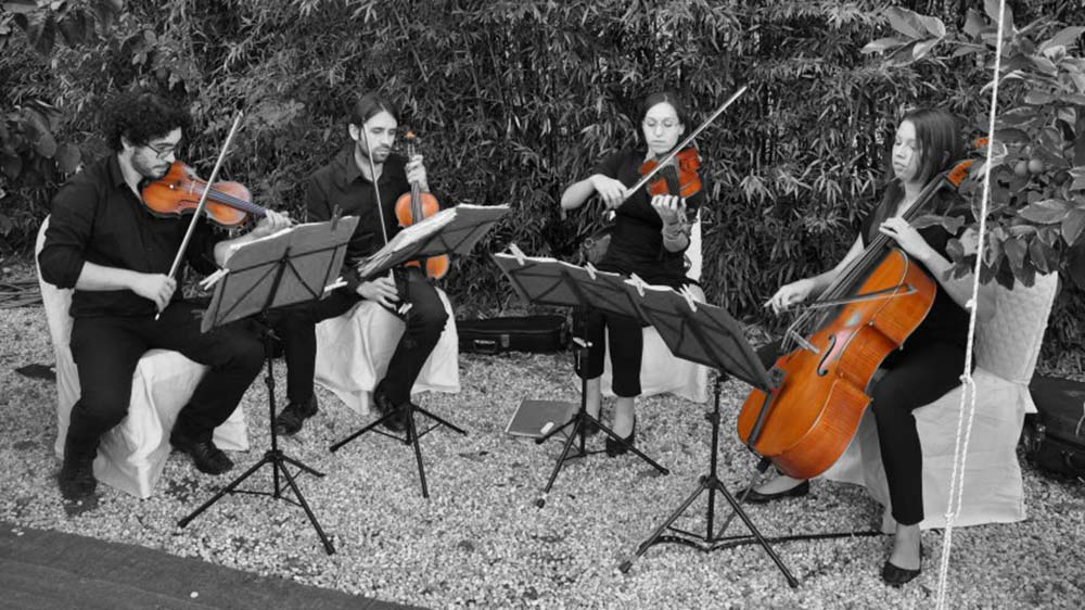 Italian wedding string quartet Tuscany